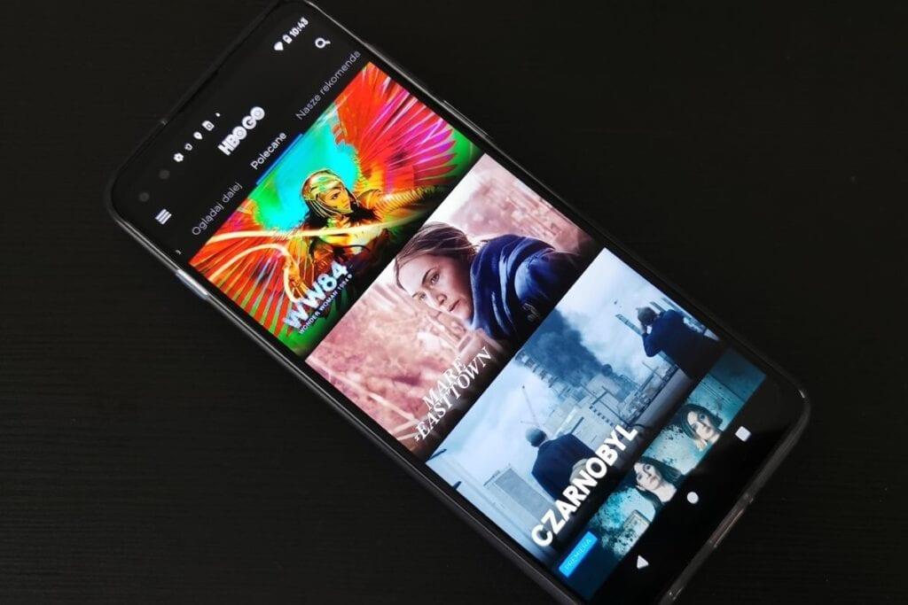 Aplikacja HBO GO na smartfonie