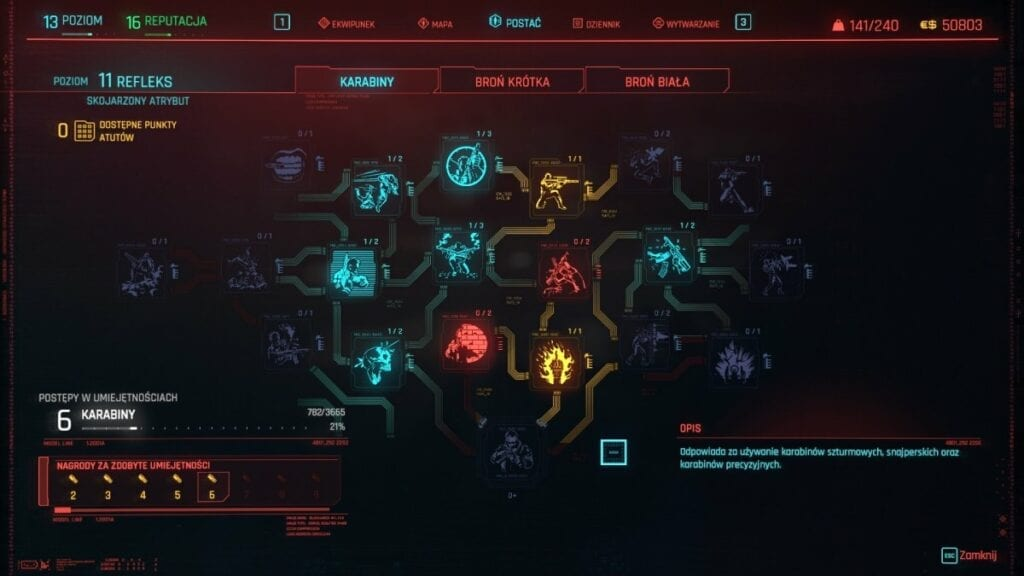 Cyberpunk 2077 - czy warto zagrać w nową grę od twórców Wiedźmina 3 - Menu