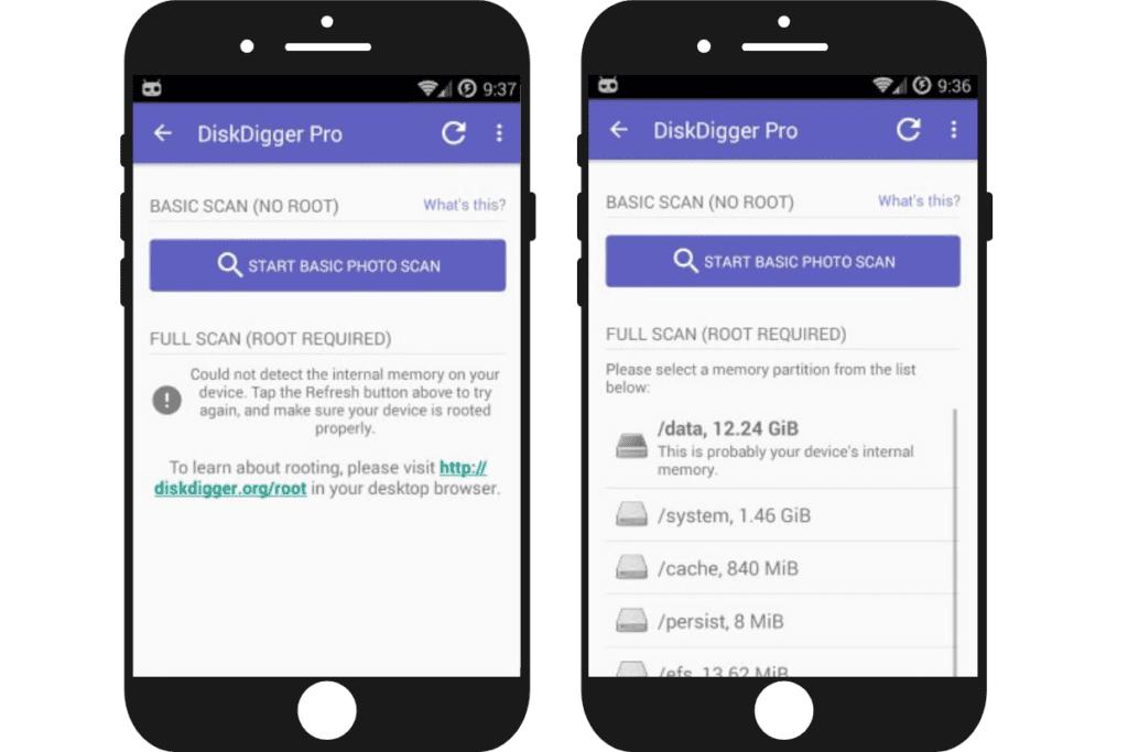 DiskDigger - apka do odzyskiwania zdjęć i nie tylko.