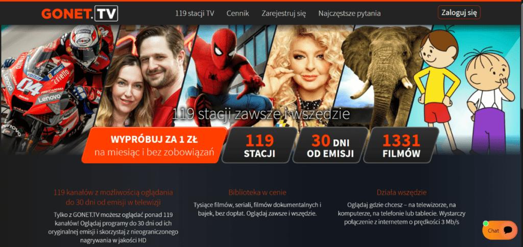 Gonet umożliwia oglądanie polskiej telewizji będąc za granicą.