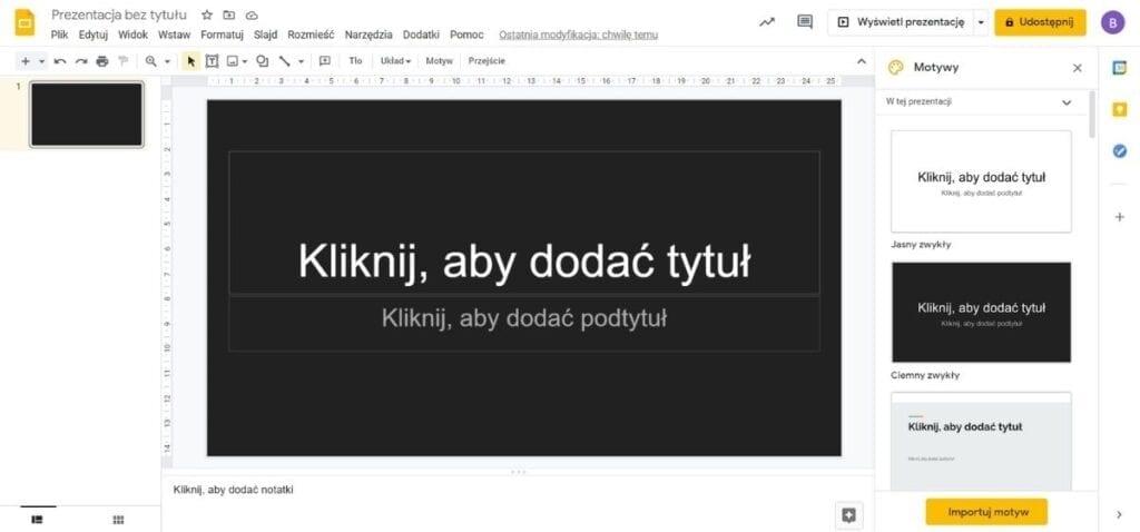 Jak zrobić prezentację przy pomocy Google Slides
