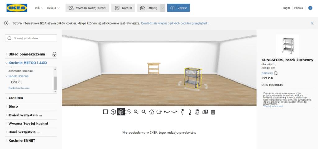 IKEA Home PLanner - program do projektowania wnętrz