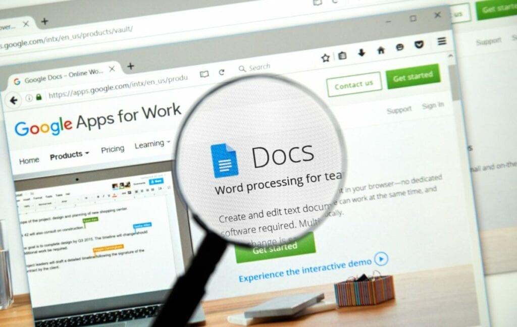 Programy do pisania - Google Docs