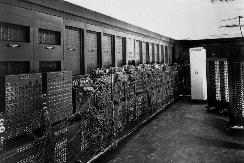 Pierwszy komputer ENIAC, 1946 r.
