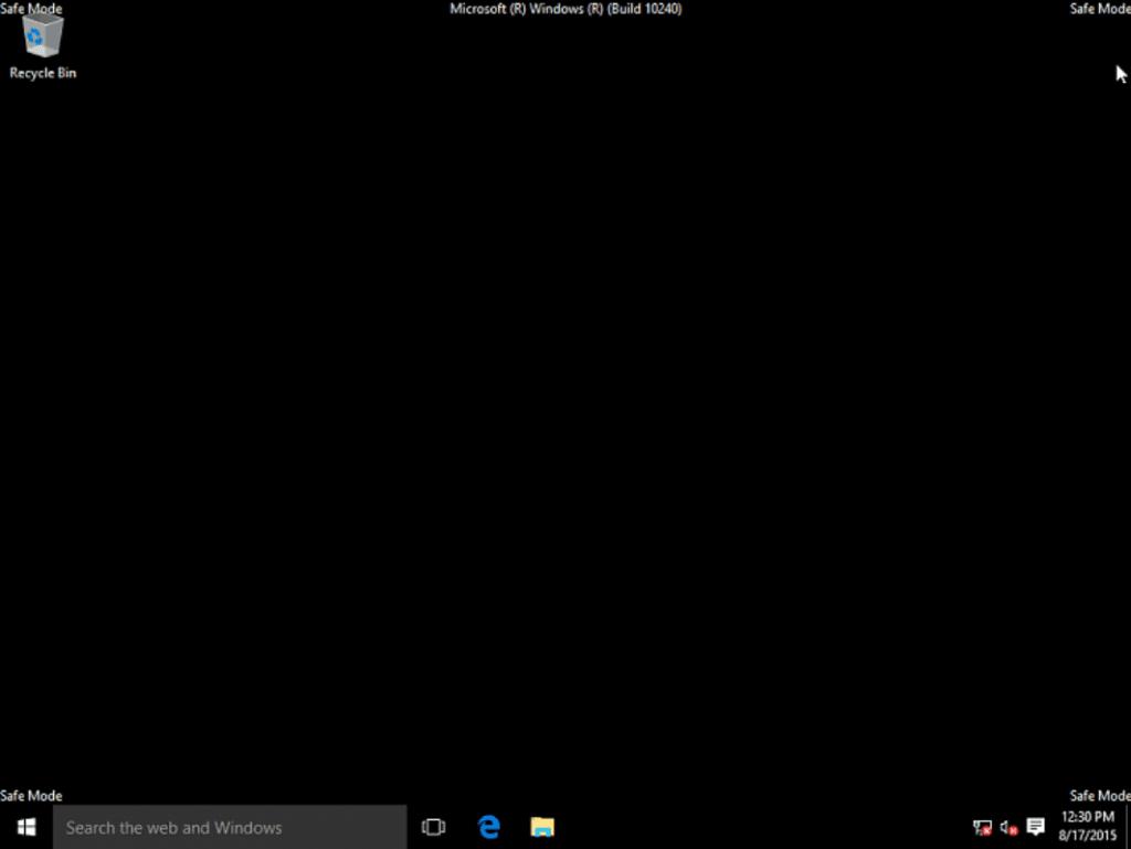 Tryb awaryjny Windows 10