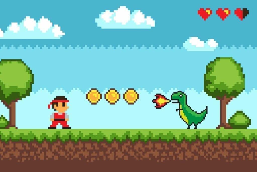 Stare gry komputerowe - pixelart