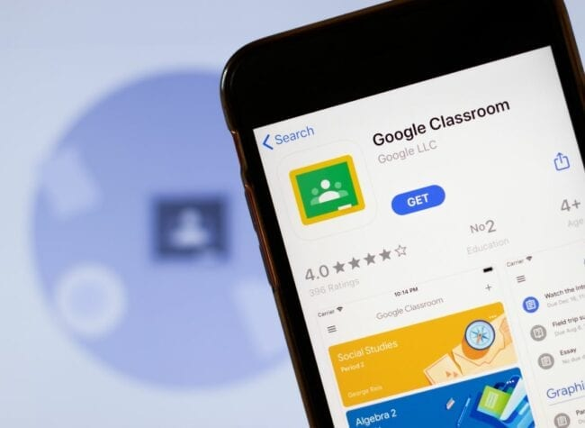 Google Classroom aplikacja na telefon