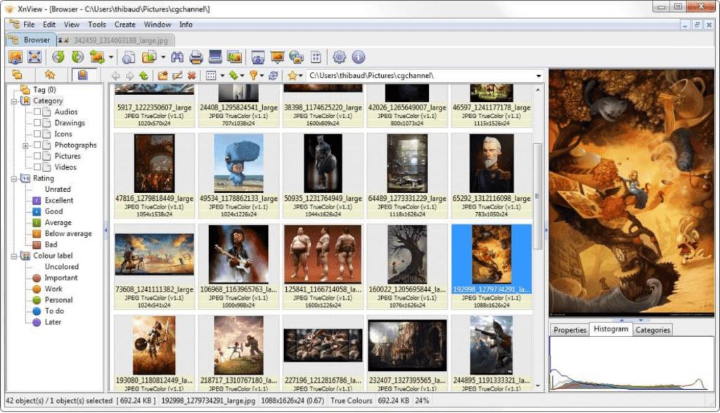 XnView - program do zmiany rozdzielczości zdjęcia.