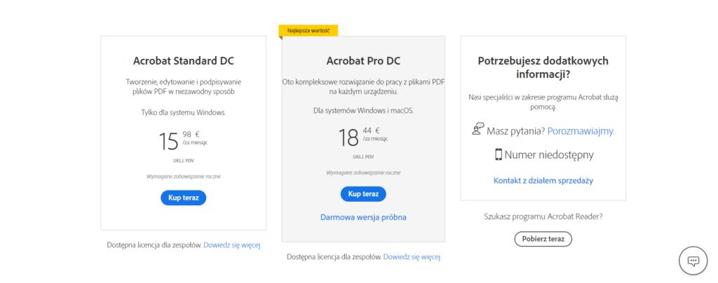 Adobe - jak zapisać plik w pdf
