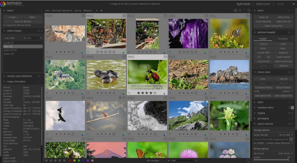 Darktable - program do przeróbki zdjęć