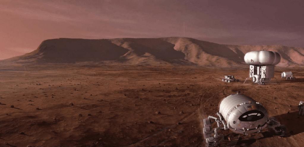 Lot na Marsa w celu budowy bazy
