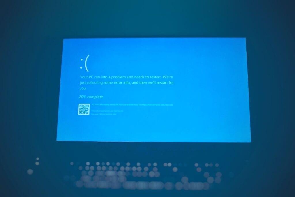 aplikacja nie została właściwie uruchomiona - bluescreen
