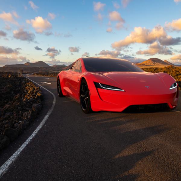 Tesla Roadster obrazek tła