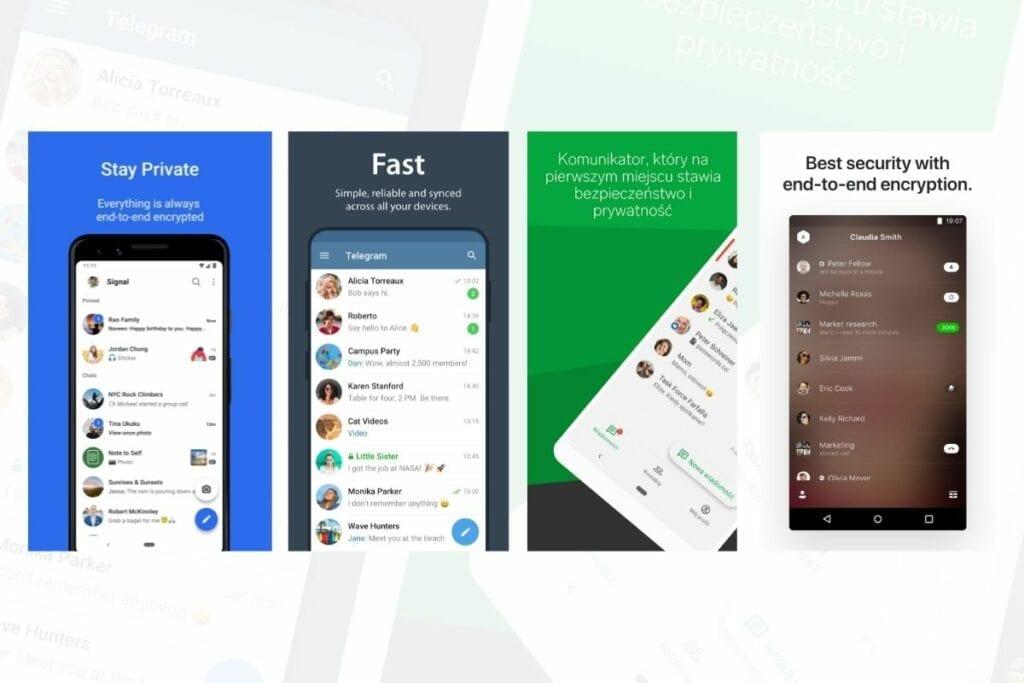 aplikacje na androida komunikatory