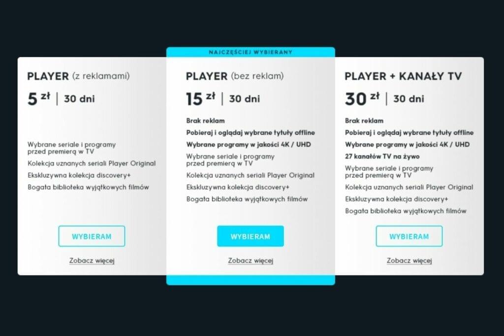 player oferta