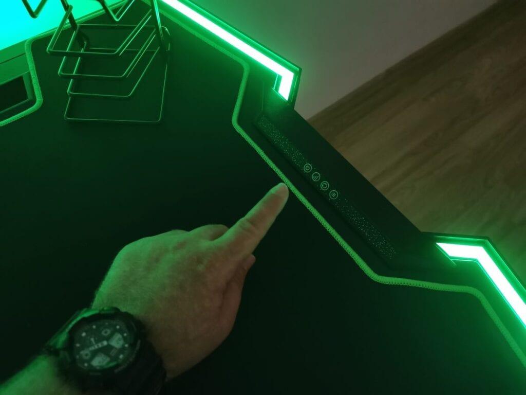 Ultradesk Force - sterowanie podświetleniem