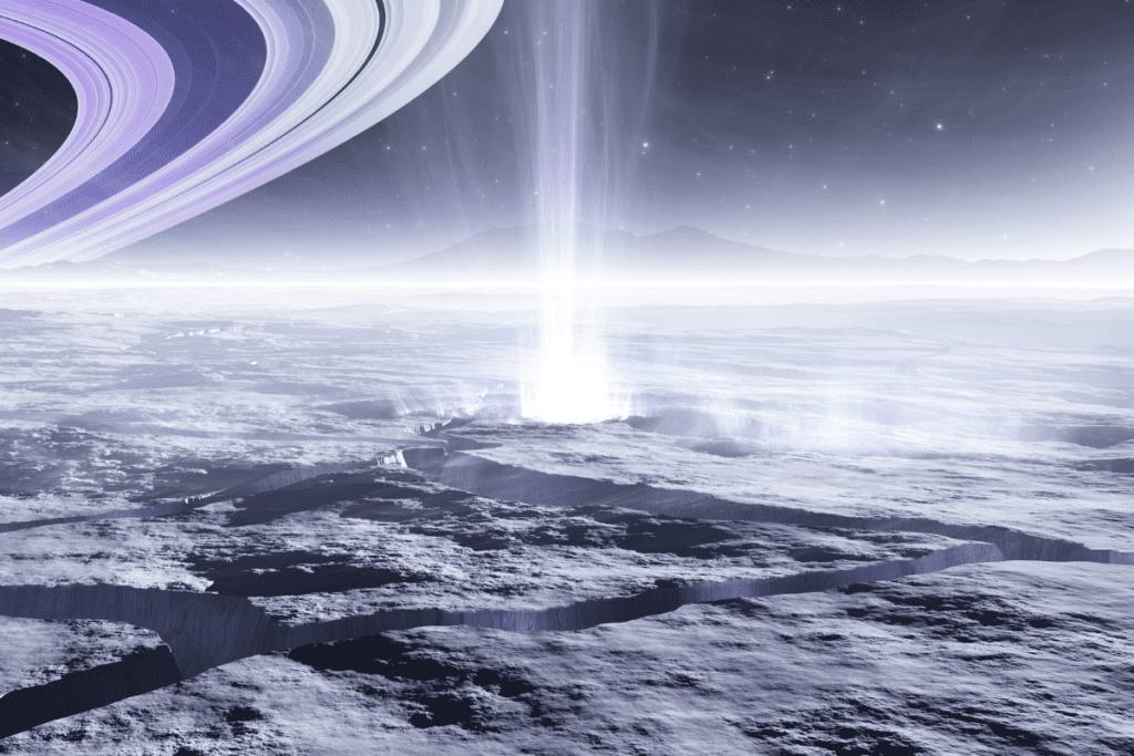 Enceladus gejzery