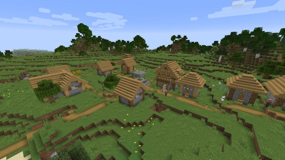 Siodło w Minecraft - osada