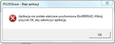 błąd 0xc0000142