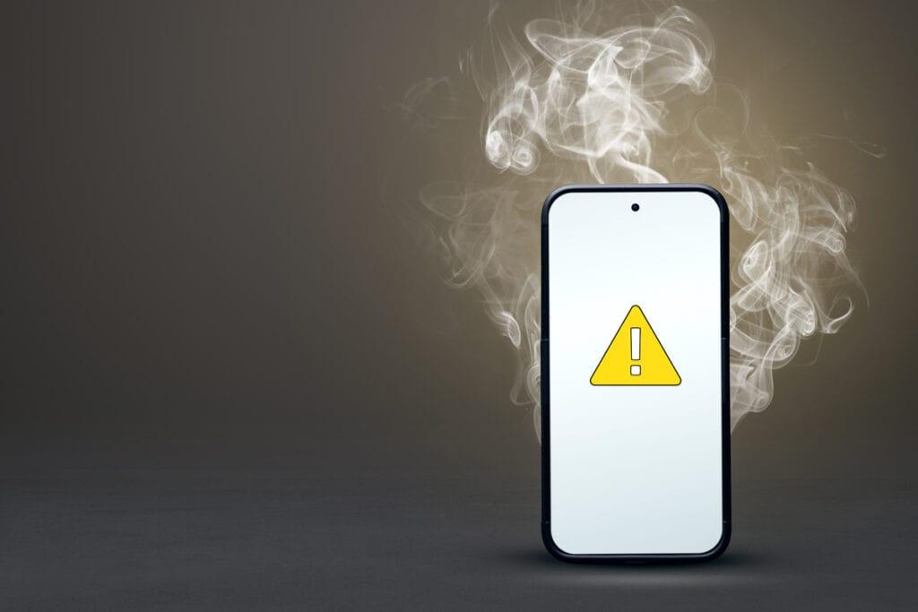 przegrzany smartfon