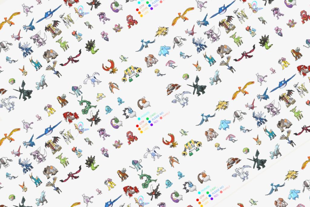 legendarne pokemony