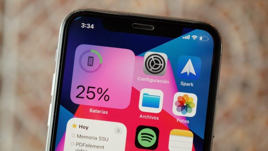 widżet smartfon bateria