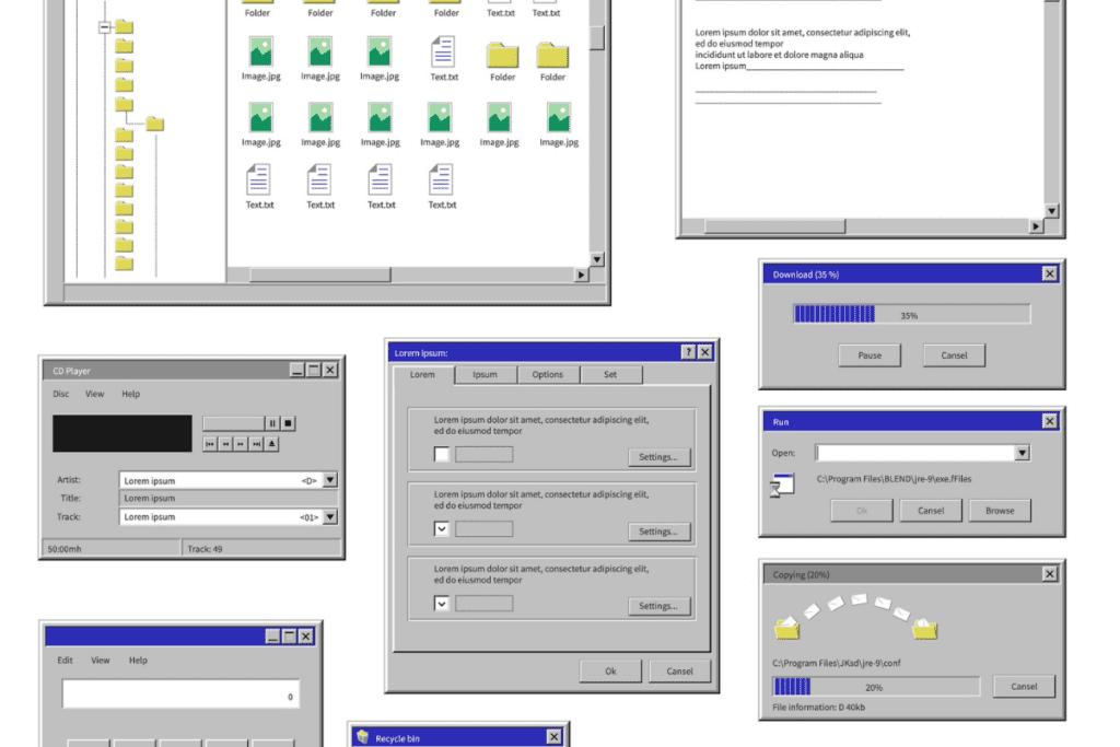 interfejs Windowsa Xp