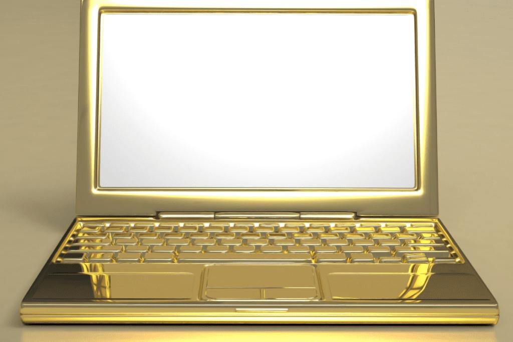 Laptop ze złota