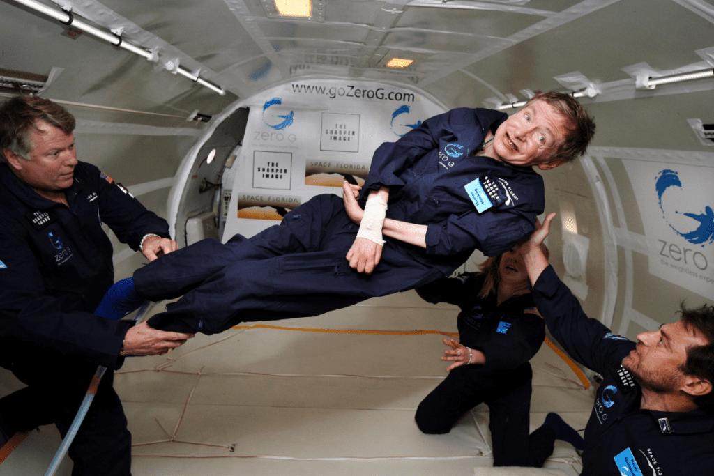 Stephen Hawking w stanie zerowej grawitacji