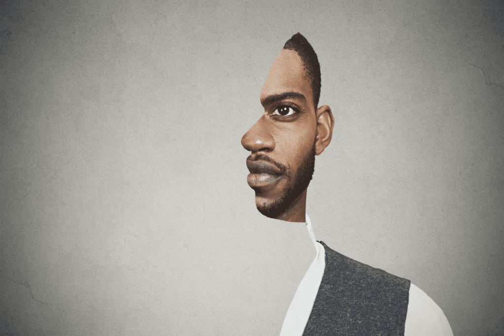 Złudzenie optyczne - mężczyzna