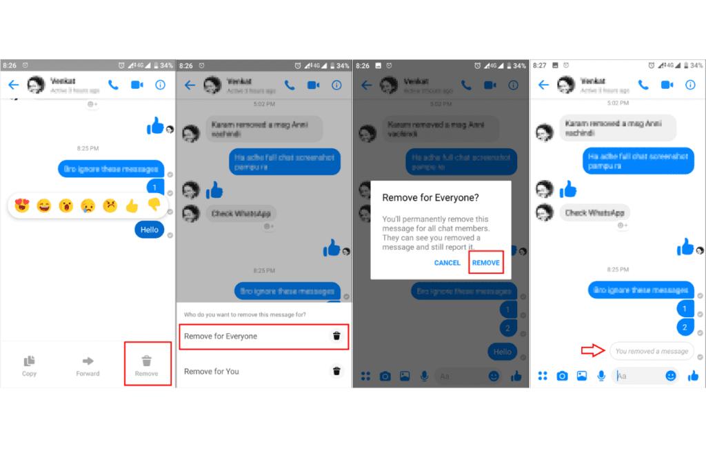 usuwanie wiadomości w aplikacji mobilnej