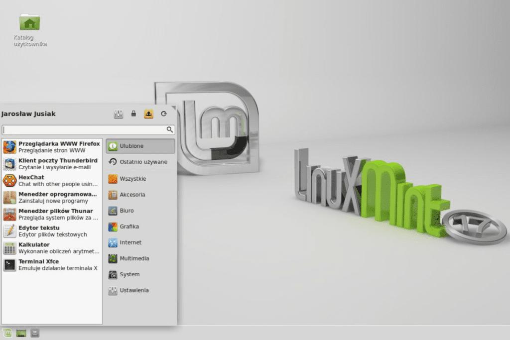 Interfejs Linuxa Mint