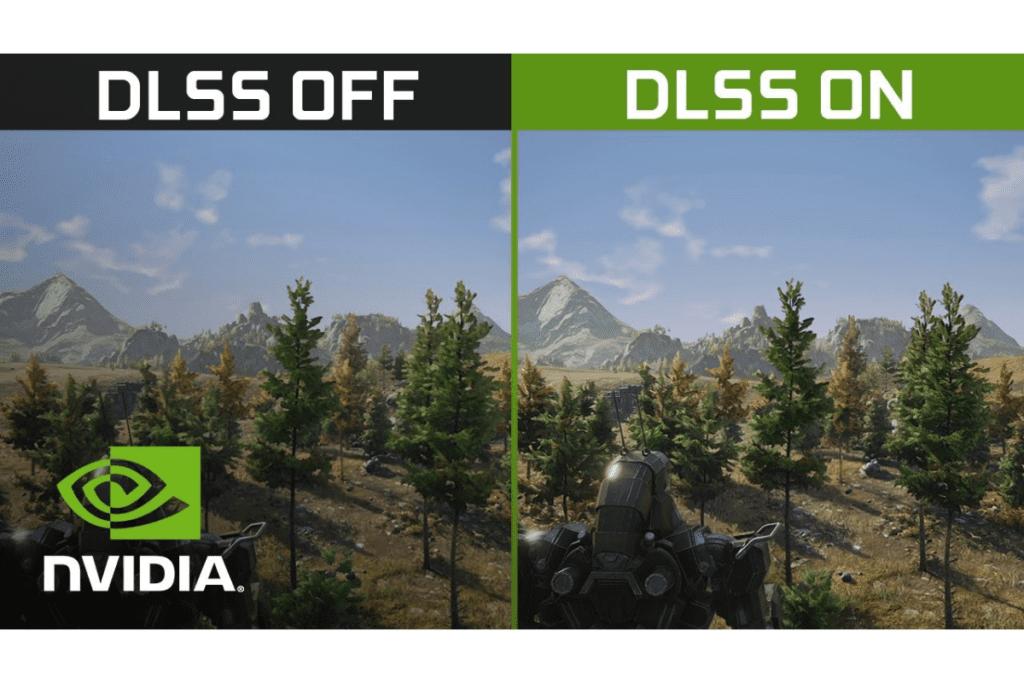 Porównanie gry bez DLSS i z