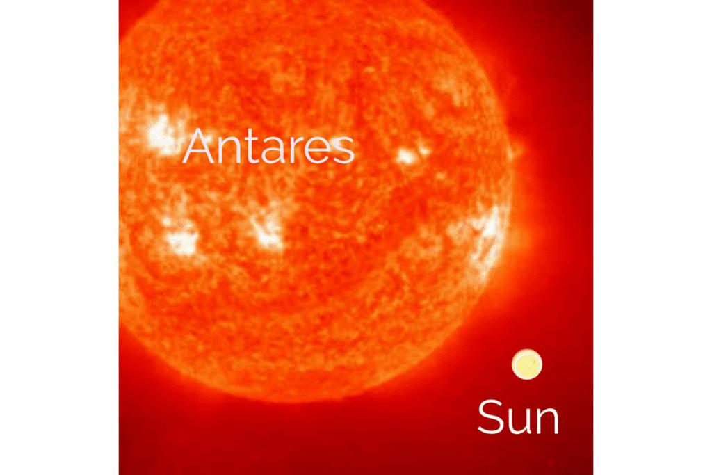 Masa i wielkość gwiazdy Antares