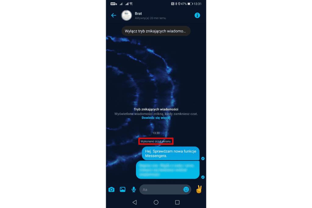 Tryb znikających wiadomość - nowa funkcja w Messengerze