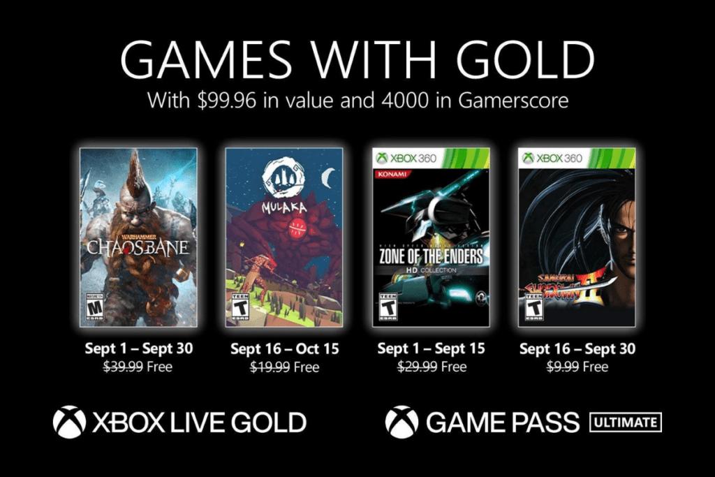 Games with Gold — wrzesień 2021