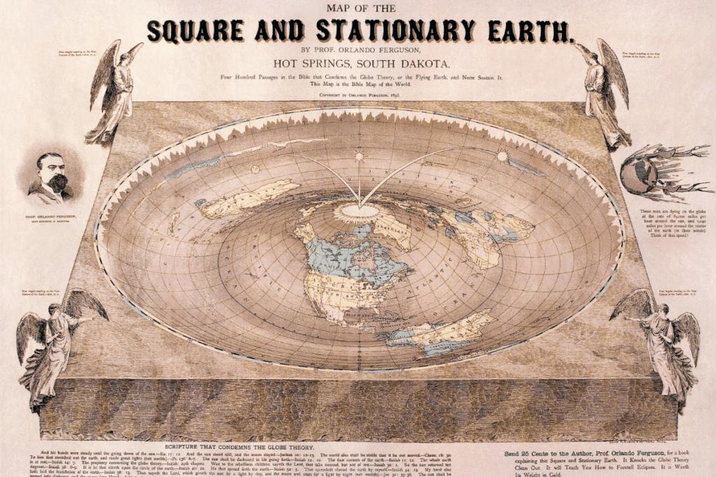Płaska Ziemia - mapa