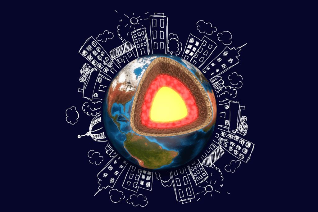 jądro Ziemi - grafika