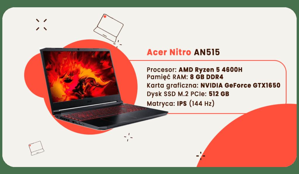 laptop dla studenta acer nitro 5