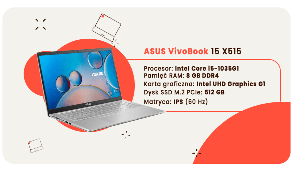 laptop dla studenta asus vivobook
