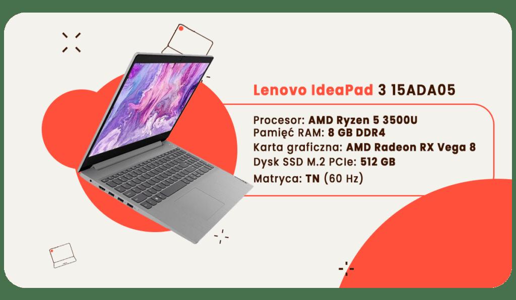 laptop dla studenta lenovo ideapad 3