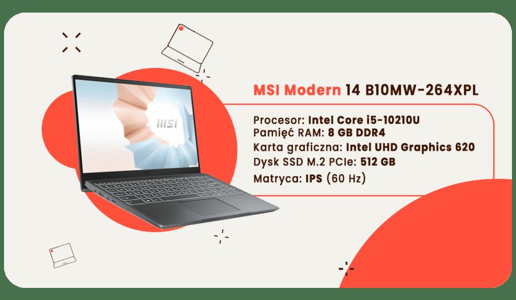 laptop dla studenta msi modern