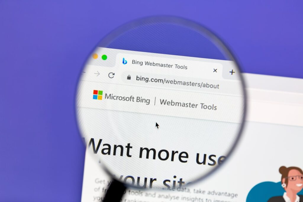 Microsoft Bing okno wyszukiwania