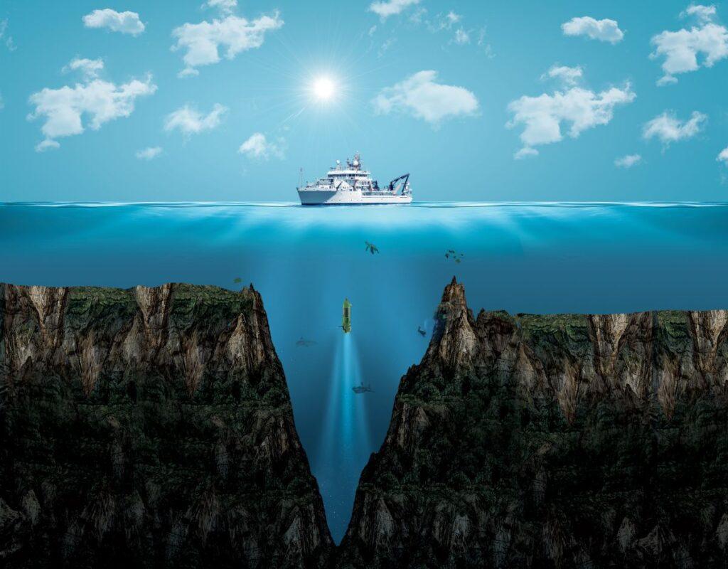 rów mariański statek badanie