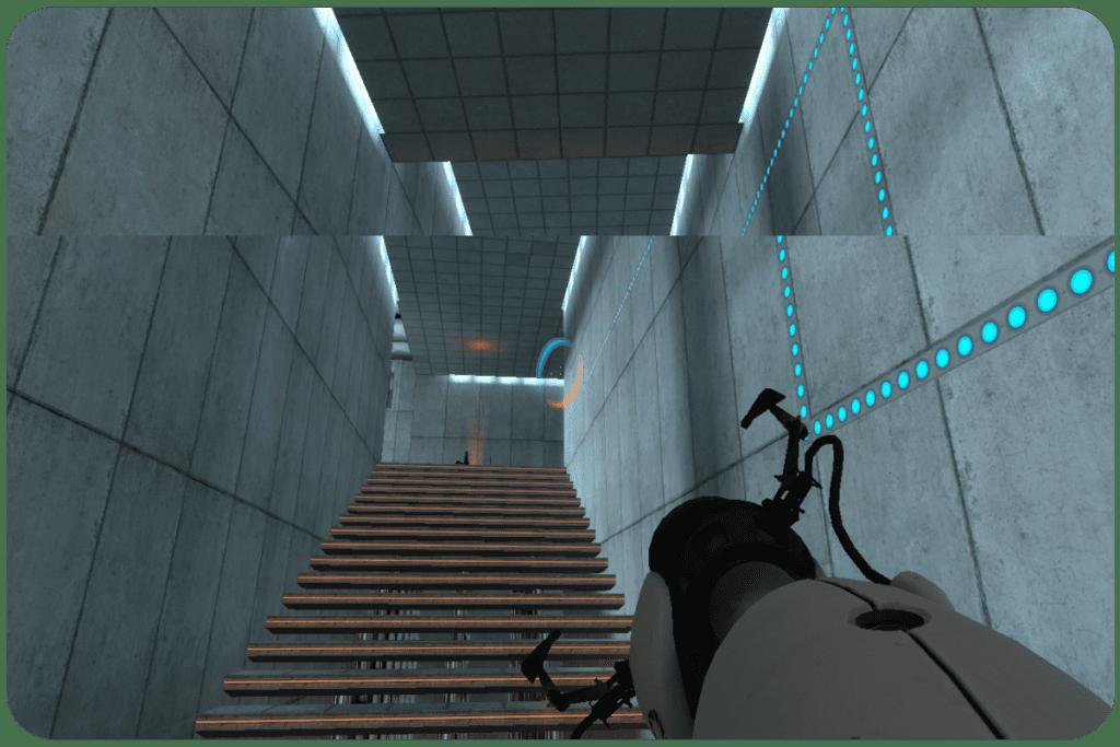 Synchronizacja pionowa w grze Portal