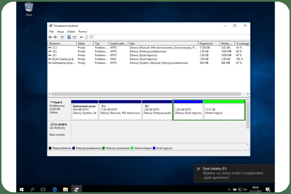 Formatowanie partycji w windows 10